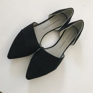 Chinese Laundry Black D'orsay Flats